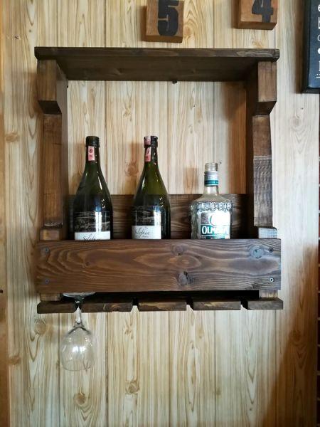 Ahşap 4'lü Şaraplık - Wts78