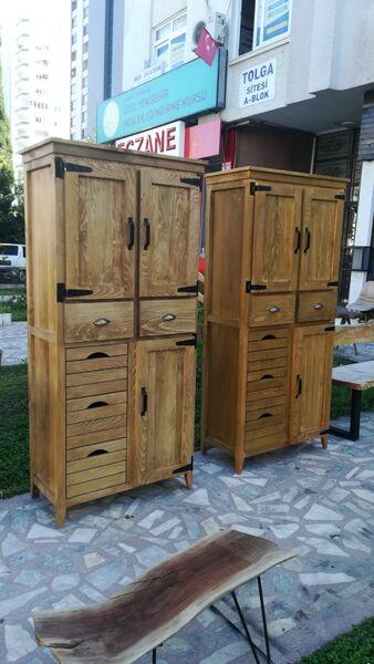 Ahşap Kiler Dolabı - Rta3