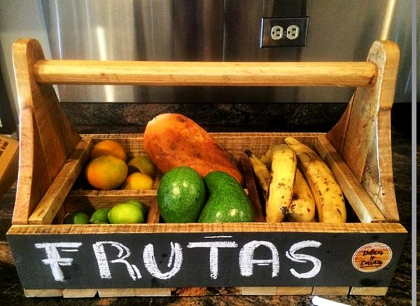 Ahşap Meyve ve Mutfak Sepeti - Mod2 - HGT120