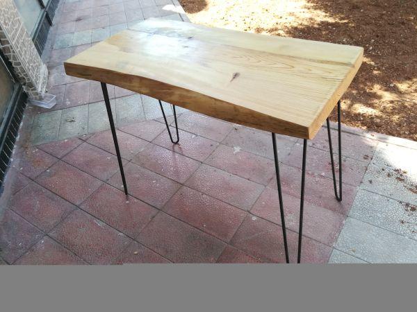 Çam Ağacı Kütük Masa - 95x47 cm - DAS