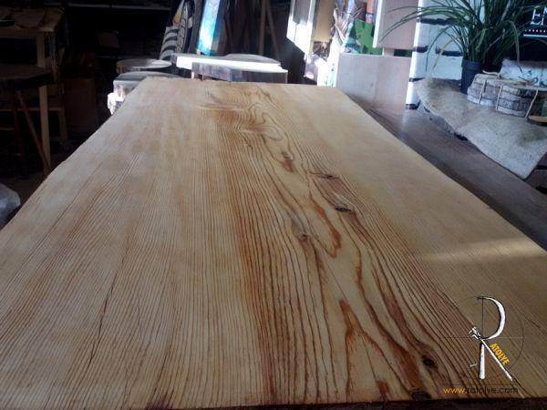 Çam Ağacı Kütük Masa - 120x54x7 cm - DAS47