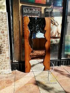 Doğal Kenarlı Masif Ahşap Ayna - 120x60 cm - SA01-01 - Thumbnail