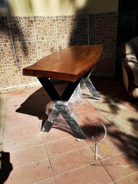 Doğal Kütük Masa . Tek Parça 140x50 cm - QF01-02