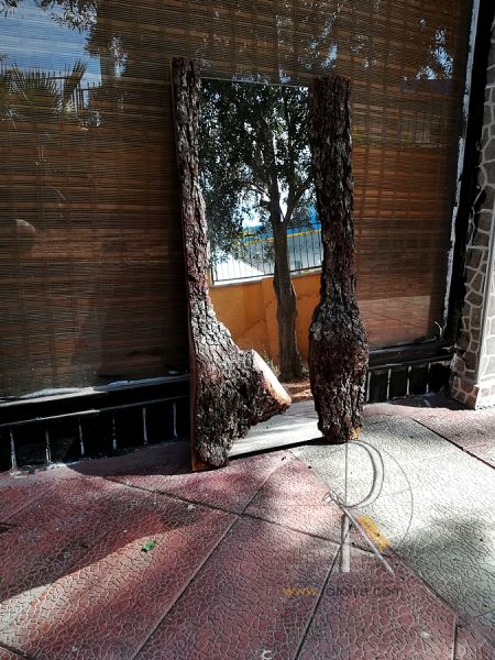 Doğal Meşe Ağacı Kenarlı Ayna - QA01-06