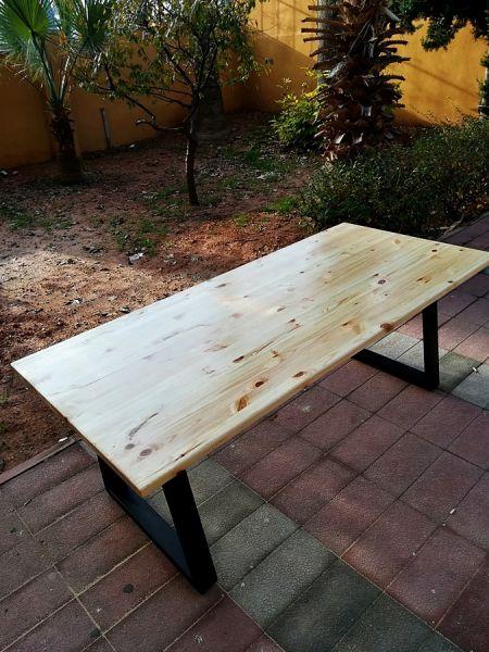 Masif Ahşap Yemek ve Çalışma Masası - 120x60 - RT1801-29