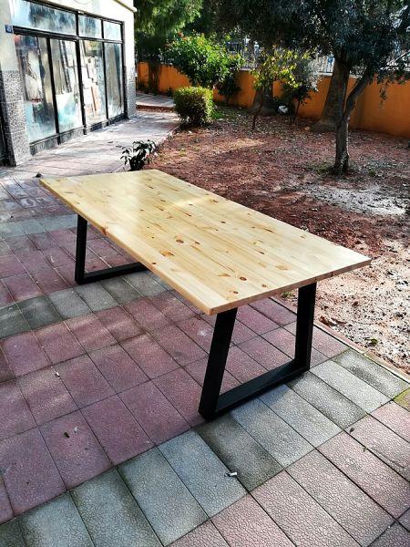 Masif Ahşap Yemek ve Çalışma Masası - 200x90 - RT1801-25