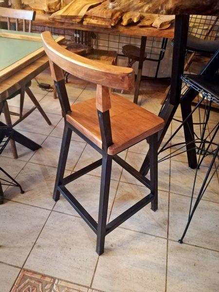 Metal Ahşap Bar Sandalyesi - Wts79