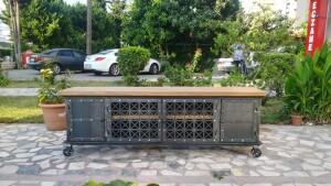 Metal Ahşap Tekerlekli TV Sehpası - Rta22 - Thumbnail