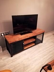 Metal Ahşap TV Sehpası - Wts9 - Thumbnail