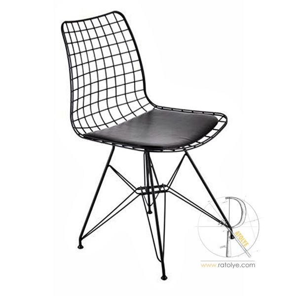 Metal Ayaklı Tel Sandalye - HGS01