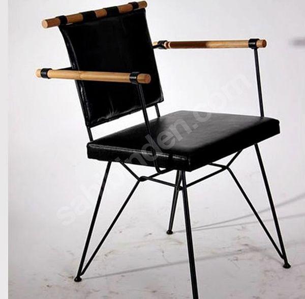Metal Deri Sandalye Siyah - Rta45