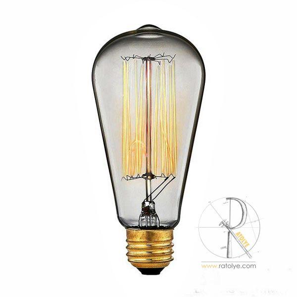 Rustik Edison Flamanlı Ampul 40W - HGA01