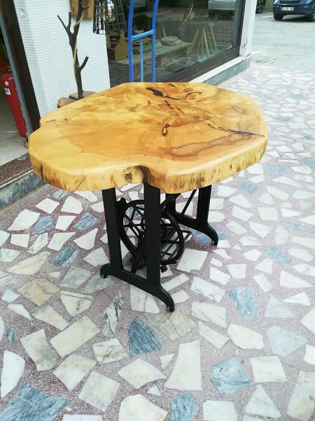 Rustik Sedir Ağacı Dikiş Makine Ayaklı Masa - RTL157-112