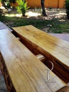 Saksılı Rustik Ayaklı Kütük Masa - DAS85.2 - Thumbnail