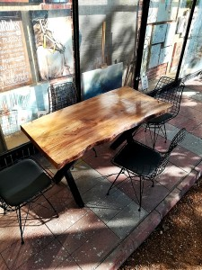 Tek Parça 4 Kişilik Kütük Masa ve Sandalye Takımı - CF01-06S - Thumbnail