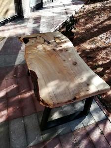 Tek Parça Sedir Ağacı Kütük Masa - 130x60 - RT1801-35 - Thumbnail