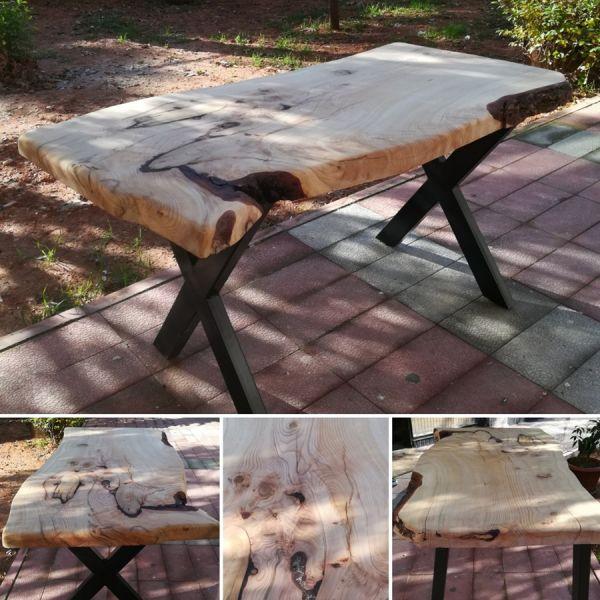 Tek Parça Sedir Ağacı Kütük Masa - 130x70 - RT1801-34