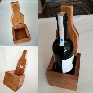 Tekli Ahşap Şarap Rafı - SD03-03 - Thumbnail