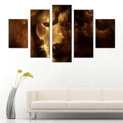 5 Parçalı Tablo - Lion