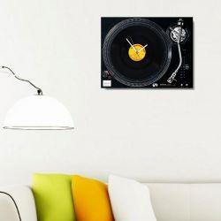 Retro LP Plaklı Pikap Saat - Technics